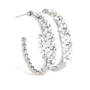 White earrings paparazzi